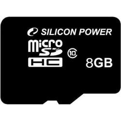 Atmiņas kartes - Silicon Power atmiņas karte microSDHC 8GB Class 10 - ātri pasūtīt no ražotāja