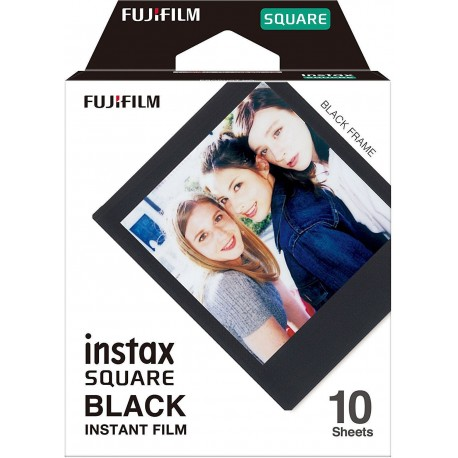Film for instant cameras - Fujifilm Instax Square 1x10 Black Frame - buy today in store and with delivery