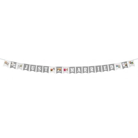 Photography Gift - Fujifilm Instax photo garland Just Married - quick order from manufacturer