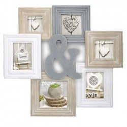 Photography Gift - Zep Wooden Collage Photo Frame TY1453 Chamboard for 6 Photos - quick order from manufacturer