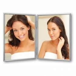 Dāvanas - Zep Double Photo Frame 120DS01-4R Silver 2x 10x15 cm - ātri pasūtīt no ražotāja