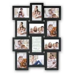 Dāvanas - Zep Collage Photo Frame PI02584 Black for 12 Photos - ātri pasūtīt no ražotāja