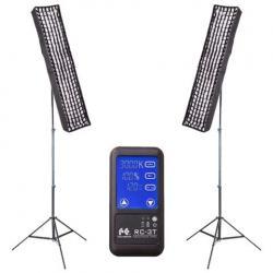 Video LED - Falcon Eyes Bi-Color LED Panel RX-29TDX Set 2 - ātri pasūtīt no ražotāja