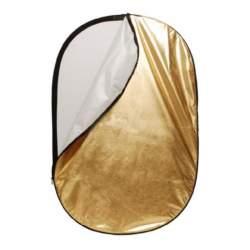 Saliekamie atstarotāji - Linkstar Reflector 2 in 1 R-100150GS Gold/Silver 100x150 cm - ātri pasūtīt no ražotāja