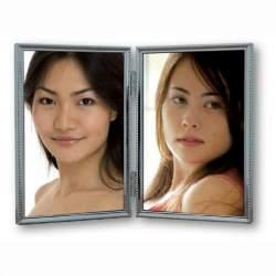 Dāvanas - Zep Double Photo Frame 120DS04-4R Silver 2x 10x15 cm - ātri pasūtīt no ražotāja