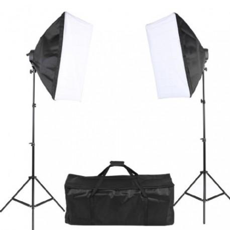 Fluorescējošās - StudioKing dienas gaismas komplekts SB01 10x45W 2x60x90cm - perc šodien veikalā un ar piegādi