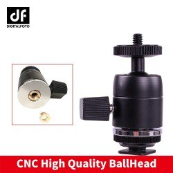 Ball head with hot shoe