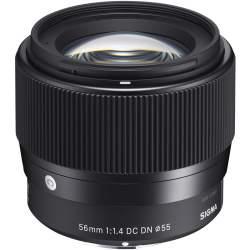 Objektīvi - Sigma 56mm f/1.4 DC DN Contemporary objektīvs priekš Sony 351965 - perc šodien veikalā un ar piegādi