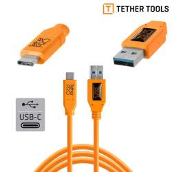 Cables - Tether Tools TETHERPRO USB 3.0 TO USB-C 4.6 M ORANGE - buy today in store and with delivery