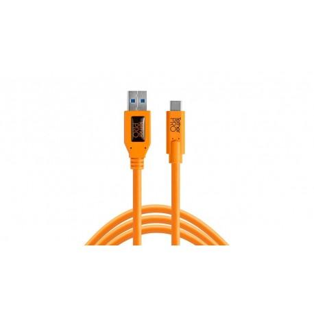 Kameru aksesuāri - Tether Tools TETHERPRO USB 3.0 TO USB-C 4.6 M ORANGE - perc šodien veikalā un ar piegādi