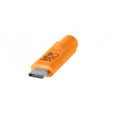 Kabeļi - Tether Tools TetherPro USB 3.0 to USB-C 4.6m orange - perc šodien veikalā un ar piegādi