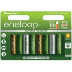 Baterijas un akumulatori - Panasonic ENELOOP BK-3MCCE/8TE (8xAA) Botanic - perc šodien veikalā un ar piegādi