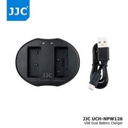 Lādētāji - JJC B-NPW126 USB Dual Battery Charger for Nikon Fujifilm NP-W126 - perc šodien veikalā un ar piegādi