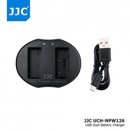 Kameras bateriju lādētāji - JJC B-NPW126 USB Dual Battery Charger for Nikon Fujifilm NP-W126 - perc šodien veikalā un ar piegādi