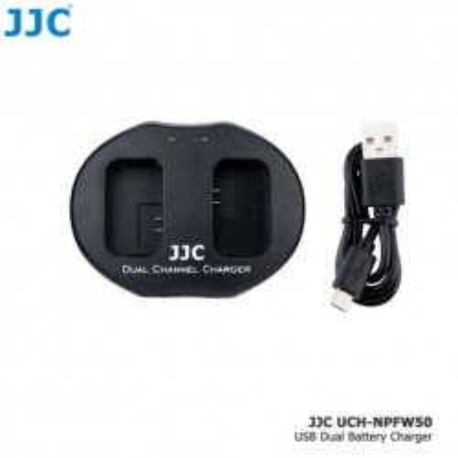 Зарядные устройства - JJC B-NPFW50 USB Dual Battery Charger for Nikon Sony NP-FW50 - быстрый заказ от производителя