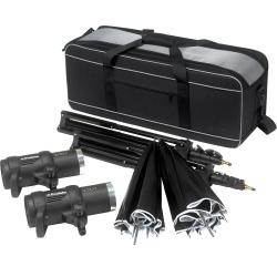 Portable Flash - Profoto D1 Studio Kit 1000 Air D1 Studio kit, incl D1s, bag, stands and umbrellas - quick order from manufacturer