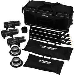 Akumulatoru zibspuldzes - Profoto D1 Studio Kit 500/500/1000 Air D1 Studio kit 3 Heads, incl D1s, bag, stands and speedrings and softbo - ātri pasūtīt no ražotāja