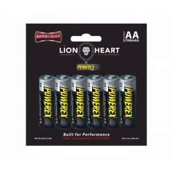 Studijas gaismu aksesuāri - ROTOLIGHT LIONHEART 6PK AA RECHARG BATTERY - ātri pasūtīt no ražotāja