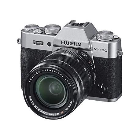 Bezspoguļa kameras - Fujifilm X-T30 18-55mm Silver Kit Mirrorless Digital Camera - ātri pasūtīt no ražotāja