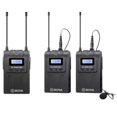 Mikrofoni - Boya UHF Dual Lavalier Microphone Wireless BY-WM8 Pro-K2 - perc šodien veikalā un ar piegādi