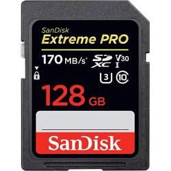 Atmiņas kartes - SanDisk Extreme PRO SDXC UHS-I V30 170MB/s 128GB (SDSDXXY-128G-GN4IN) - perc šodien veikalā un ar piegādi