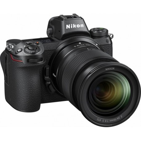 Bezspoguļa kameras - Nikon Z6 + 24-70mm F4.0 full-frame 24.5Mpix mirrorless kit ar adapter - perc šodien veikalā un ar piegādi