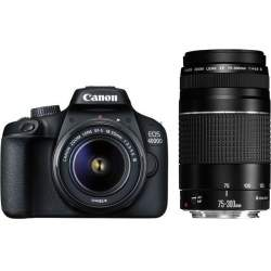 Photo DSLR Cameras - Canon EOS 4000D + 18-55mm III + 75-300mm III Kit - quick order from manufacturer