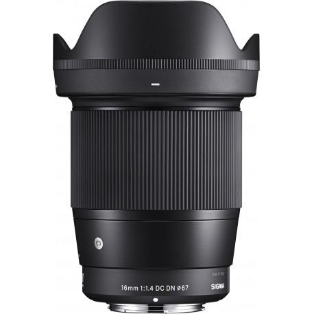 Объективы - Sigma 16mm F1.4 DC DN Sony E-mount [CONTEMPORARY] - купить сегодня в магазине и с доставкой