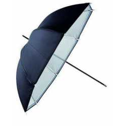 Umbrellas - Falcon Eyes Umbrella URN-48TSB1 Transparent White + Silver/Black Cover 122 cm - buy today in store and with delivery