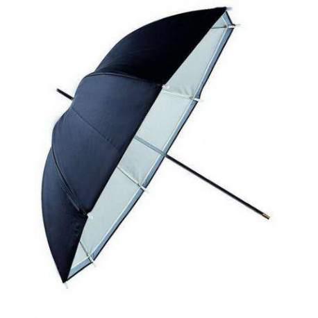Foto lietussargi - Falcon lietussargs balts caurspīdīgs + sudrabs/melns URN48TSB1 295430 - perc šodien veikalā un ar piegādi