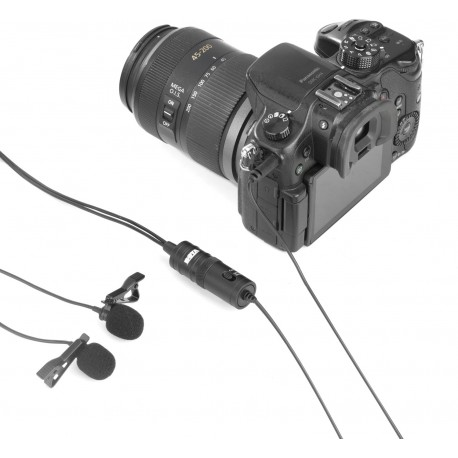Микрофоны - Boya Dual Lavalier microphone for Smartphone, DSLR, Camcorders, PC - купить сегодня в магазине и с доставкой