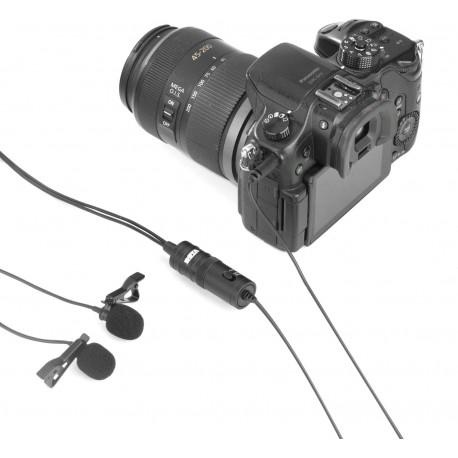 Mikrofoni - Boya mikrofons BY-M1DM Dual Lavalier - perc šodien veikalā un ar piegādi