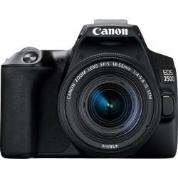 Spoguļkameras - Canon EOS 250D + 18-55mm IS STM Kit, melns - perc šodien veikalā un ar piegādi