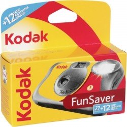 Film cameras - KODAK FUNSAVER 27+12 vienreizējās lietošanas fotoaparāts - buy today in store and with delivery
