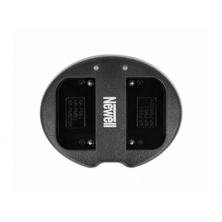 Kameras bateriju lādētāji - Newell SDC-USB two-channel charger for NP-F550, FM50, FM500H series batteries - perc šodien veikalā un ar piegādi