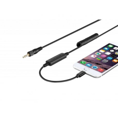 Mikrofoni - Saramonic LC-C35 audio cable - mini Jack 3.5 mm TRS / Lightning - perc šodien veikalā un ar piegādi