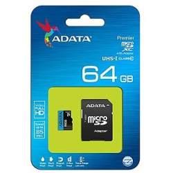 Adata64GbMicroSDXCkarte8525MBs adapteris