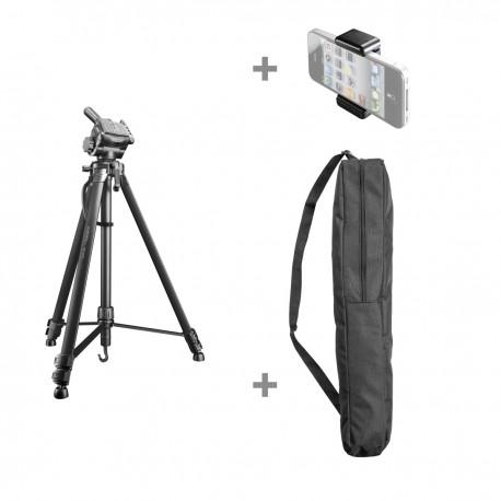 Viedtālruņu statīvi - Walimex pro WT-3570 Basic-Tripod 168cm black - perc šodien veikalā un ar piegādi