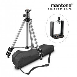 Viedtālruņu statīvi - Mantona Basic Fortis 147S tripod - ātri pasūtīt no ražotāja