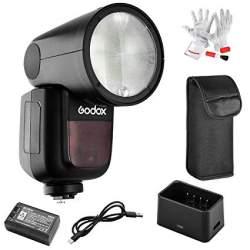 Вспышки - Godox V1 round head flash Canon - купить сегодня в магазине и с доставкой