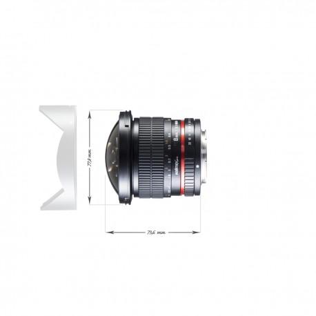 Objektīvi - Walimex pro 8/3.5 Fisheye II APS-C Sony A black - ātri pasūtīt no ražotāja
