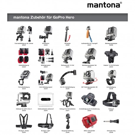 Action camera mounts - mantona Adhesive Pads 6 pcs for GoPro - quick order from manufacturer