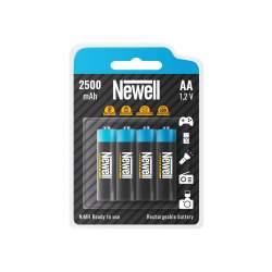 Pirkstiņu baterijas zibspuldzēm - Newell Rechargeable NiMH AA 2500 x4 - perc šodien veikalā un ar piegādi