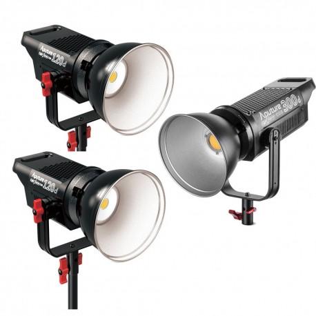 Video gaismas - Aputure COB C120D + C120D + C300D I vai II versiju Trīs LED gaismu komplekta 540W Noma