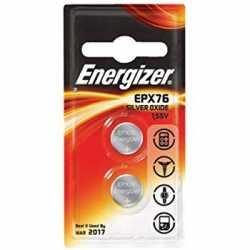 Pirkstiņu baterijas zibspuldzēm - ENERGIZER SR44/EPX76 2 pack Silver Oxide - perc šodien veikalā un ar piegādi