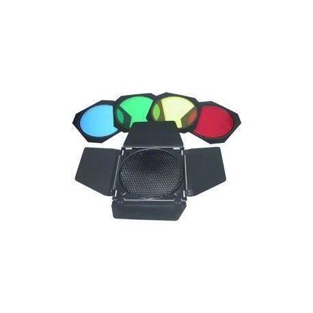 Reflektori - Walimex vārtiņi, šūnas + krāsaini filtri (D18cm) 12514 - perc šodien veikalā un ar piegādi
