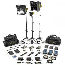 LED прожекторы - Dedolight SLT3-3-BI-M 3 Light MICRO LED Kit BICOLOR AC Master - быстрый заказ от производителя