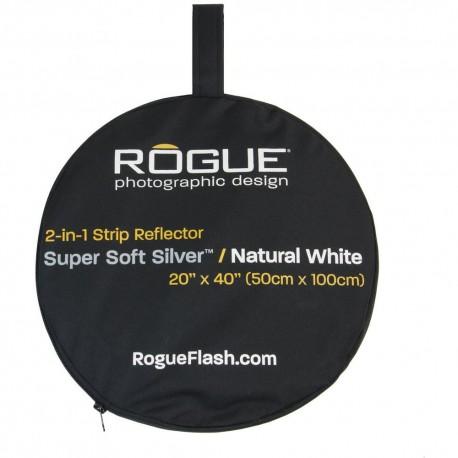 Saliekamie atstarotāji - Rogue 2-in-1 Reflector Silver/White 50x100cm - perc šodien veikalā un ar piegādi