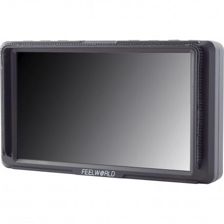LCD monitori filmēšanai - FEELWORLD F5 5inch HDMI monitor 150g 1920x1080 450cd 4K NP-F970 LP-E6 - perc šodien veikalā un ar piegādi