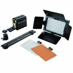 LED uz kameras - Falcon Eyes LED gaismas komplekts Dimmable DV-96V-K1 on Penlite 2905952 - perc šodien veikalā un ar piegādi